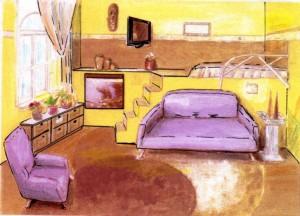 Galériázott szoba